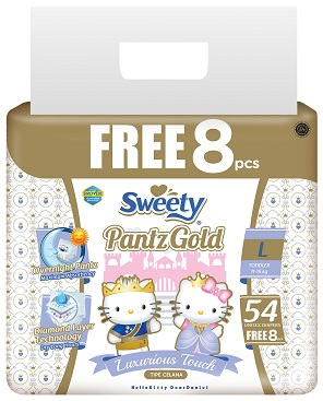 Трусики Sweety Pantz Gold L54+8 (11-15кг)