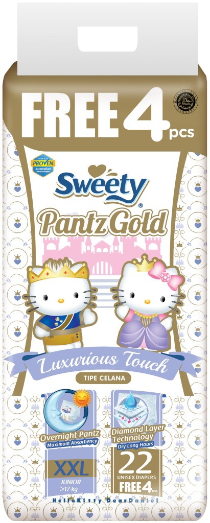 Трусики Sweety Pantz Gold XXL22+4 (17-25кг)