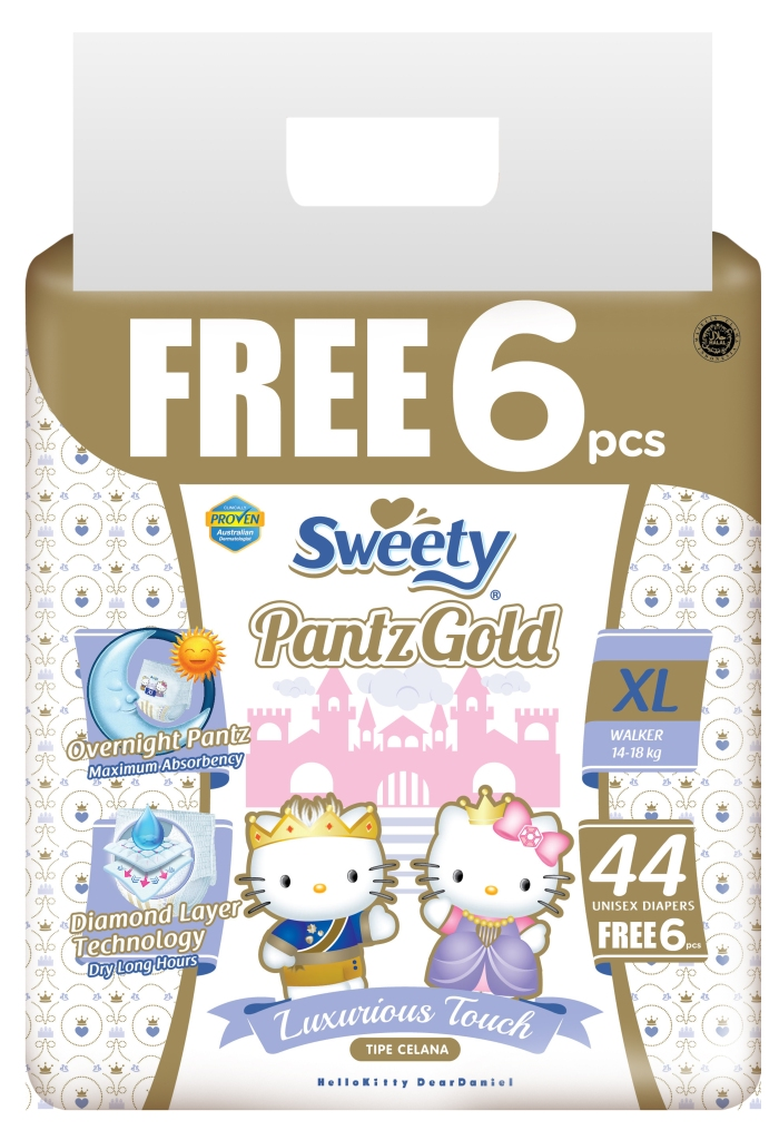 Трусики Sweety Pantz Gold XL44+6 (14-18кг)