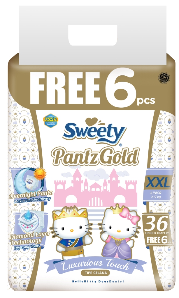 Трусики Sweety Pantz Gold XXL36+6 (17-25кг)