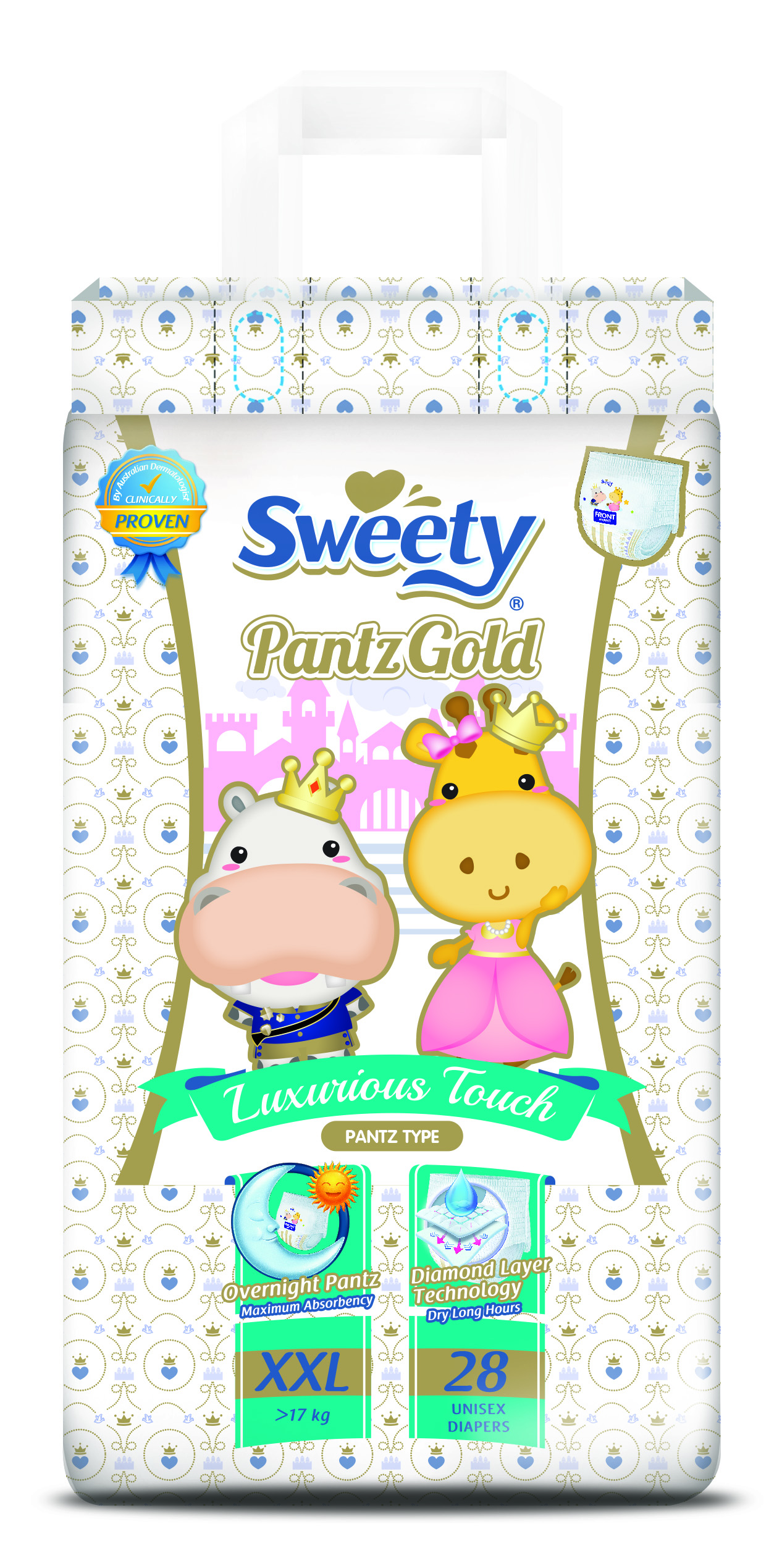 Трусики SWEETY Pantz Gold XXL28 (17-25кг)