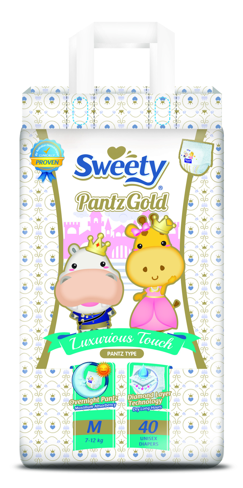 Трусики SWEETY Pantz Gold M40 (7-12кг)