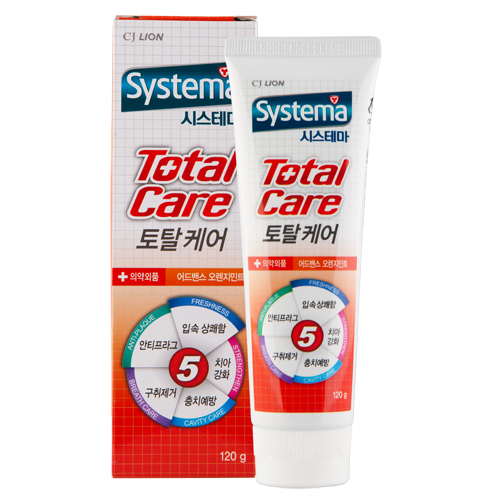 Зубная паста CJ LION Systema Total Care Апельсин, 120 гр