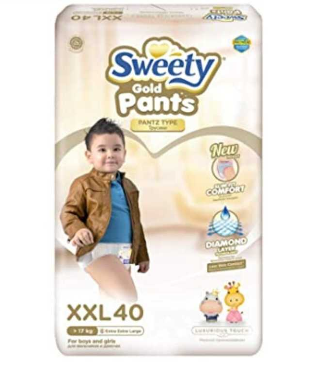 Трусики SWEETY Pantz Gold XXL40 (17-25кг)