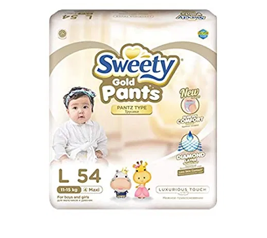 Трусики SWEETY Pantz Gold L54 (11-15кг)